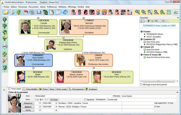 Interface de Généatique 2010