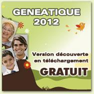 G�n�atique 2012. Version d�couverte en t�l�chargement GRATUIT