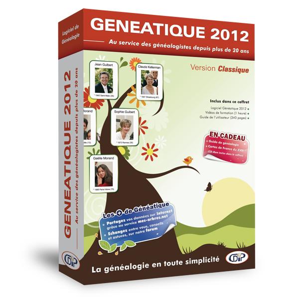 Boîte classique 3D « Généatique 2012 »