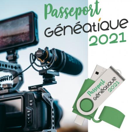Passeport Généatique 2021 sur clé USB