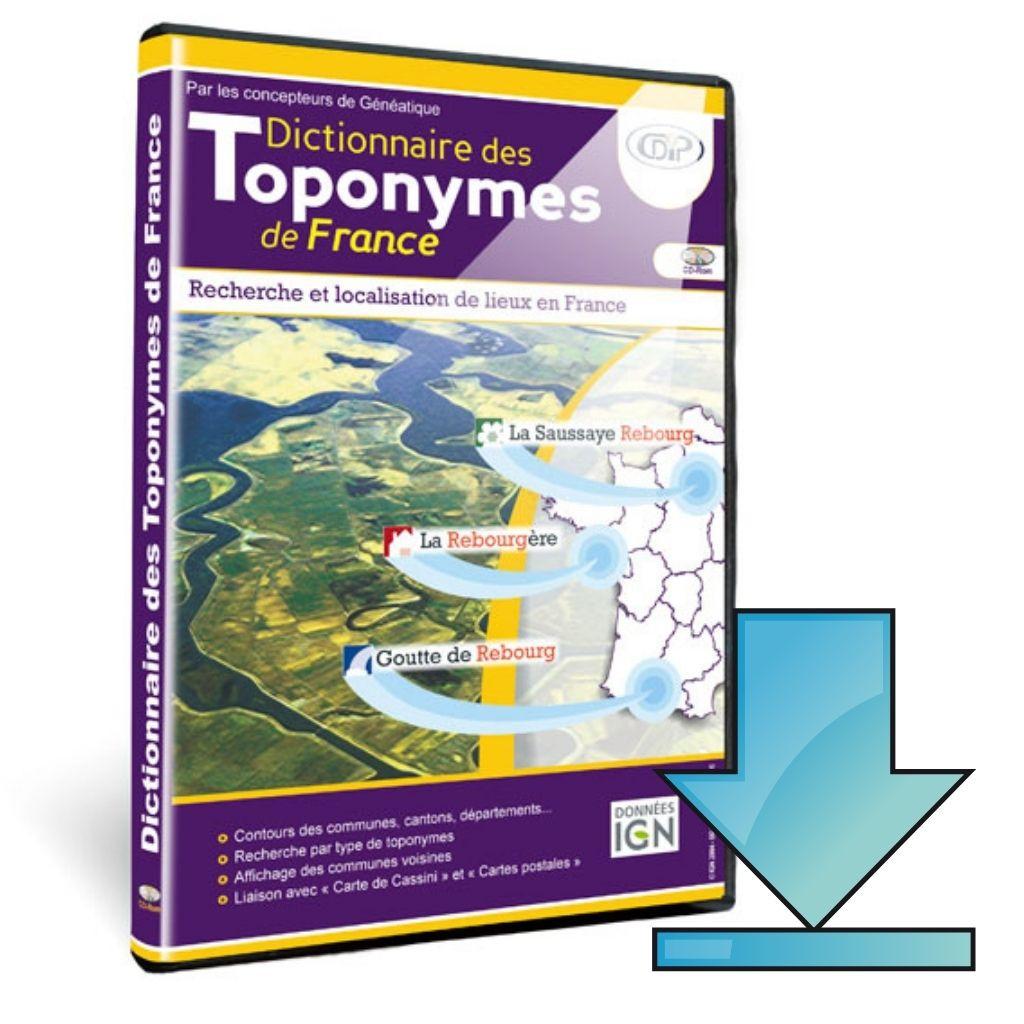 Dictionnaire des Toponymes en téléchargement