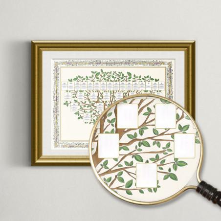 L'arbre généalogique imprimé avec ses cases vierges