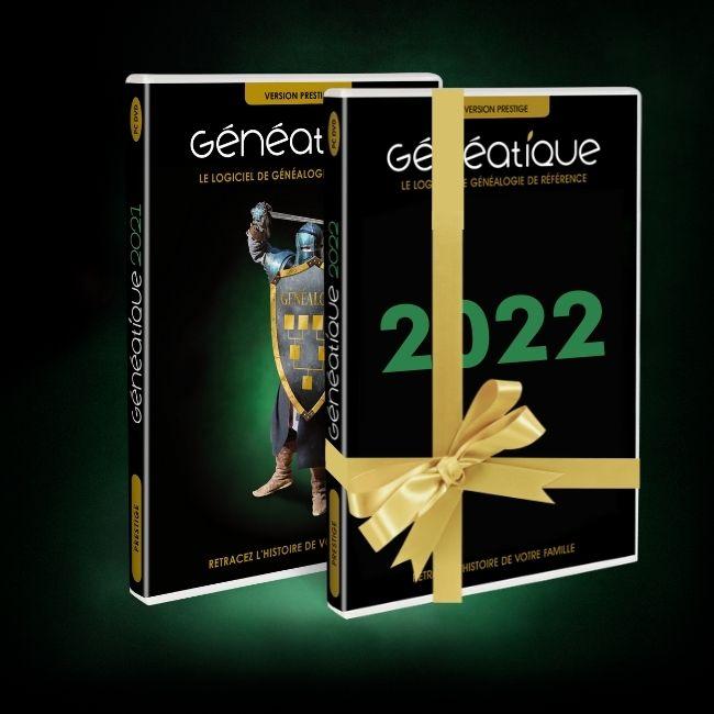 Achetez Généatique 2021, vous recevrez gratuitement Généatique 2022 dès sa sortie